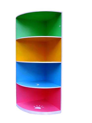 Tủ khung gỗ thông tự nhiên có 3 ngăn kéo sặc sỡ cho phòng bé yêu thêm rực rỡ dễ thương