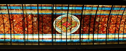Gadsden Hotel stained glass ceiling1
