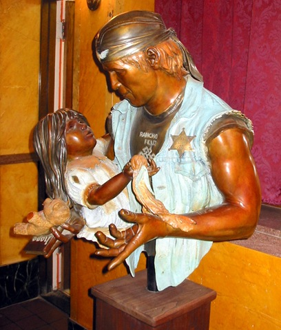 Bust of Biker & Child Gadsden Hotel-1