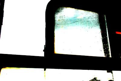 ralf kwaaknijd, mondrianification of train window, 2008