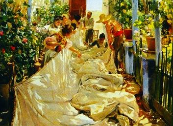 cosiendo la vela - 1896