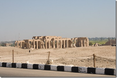View of the Ramesseum from the road (see Ozymandius)