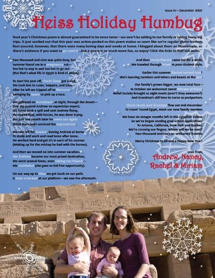 christmas letter 2009