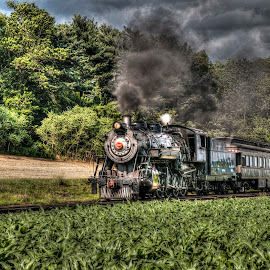 The Smell of Coal Smoke... by Robert England - Transportation Trains ( steam engine, hdr, coal, train, burning )