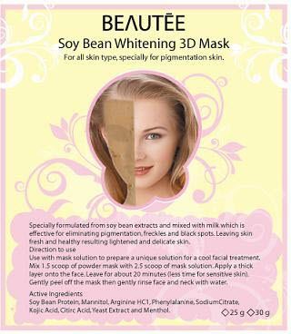 beautee 3d powder mask soy bean