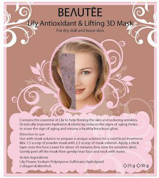 beautee 3d powder mask lily
