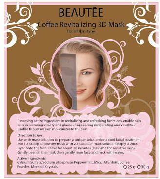 beautee 3d powder mask coffee
