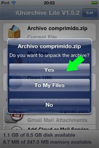 paso%205 ¿Cómo abrir archivos zip en iPhone, iPad o iPod Touch?