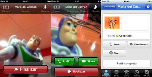 skypevideo Skype para iPhone ya permite videollamadas