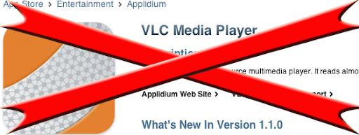vlc fuera de appstore VLC retirada de la App Store