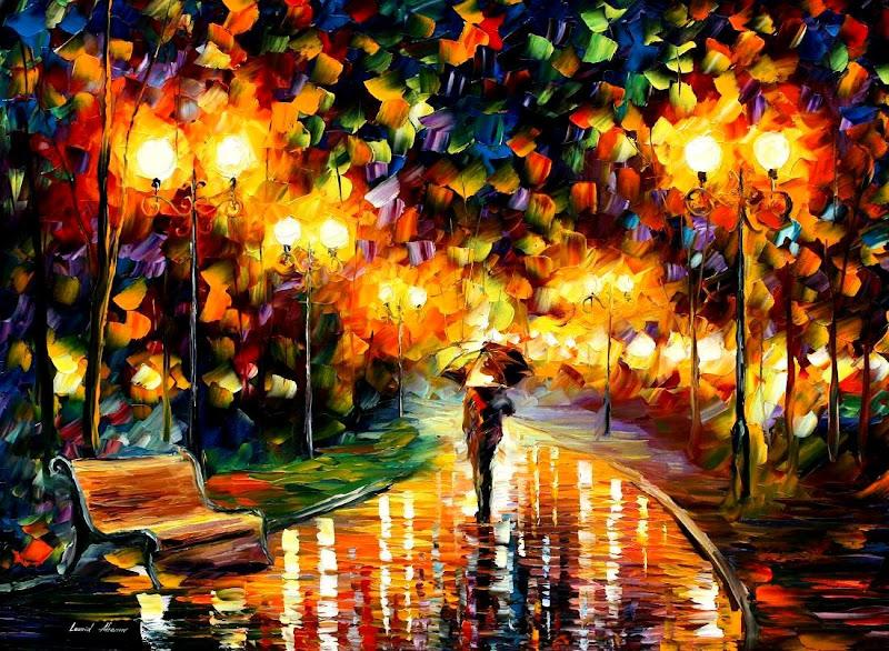 alley in the rain