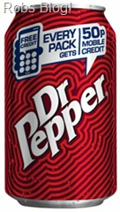 Dr Pepper 50p mobile credit