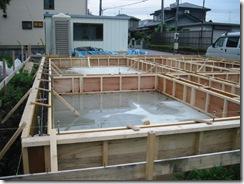 土壁の家 内部型枠