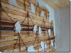 土壁の家 下塗り