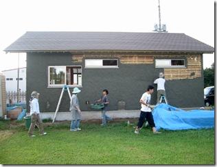 土壁の家 荒壁