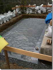 自然素材の家 砕石