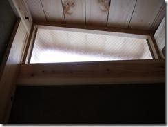 自然素材の家 固定窓