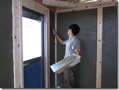 自然素材の家 土壁完成