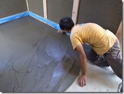 自然素材の家 床仕上げ