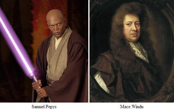 Mace Windu and Samuel Pepys