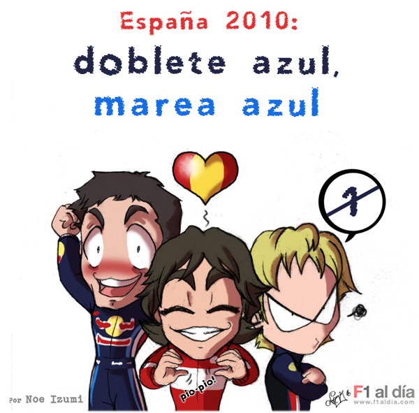 Фернандо Алонсо Марк Уэббер Себастьян Феттель Гран-при Испании 2010