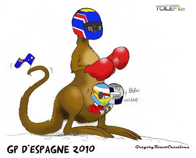 победа Марка Уэббера на Гран-при Испании 2010