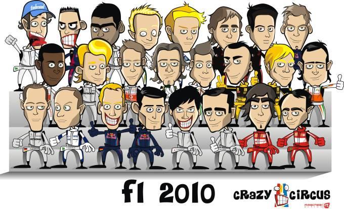коллективное фото гонщиков Формулы-1 сезон 2010