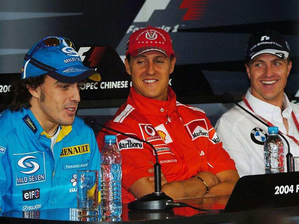 Гран-при Китая 2004 - Алонсо Михаэль и Ральф Шумахеры