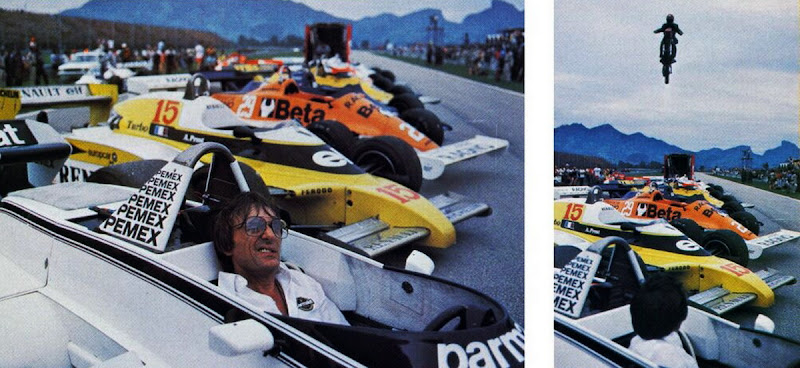 Берни Экклстоун в кокпите Brabham на Гран-при Бразилии 1981 года