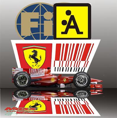 Ferrari и реклама в виде штрих-кода