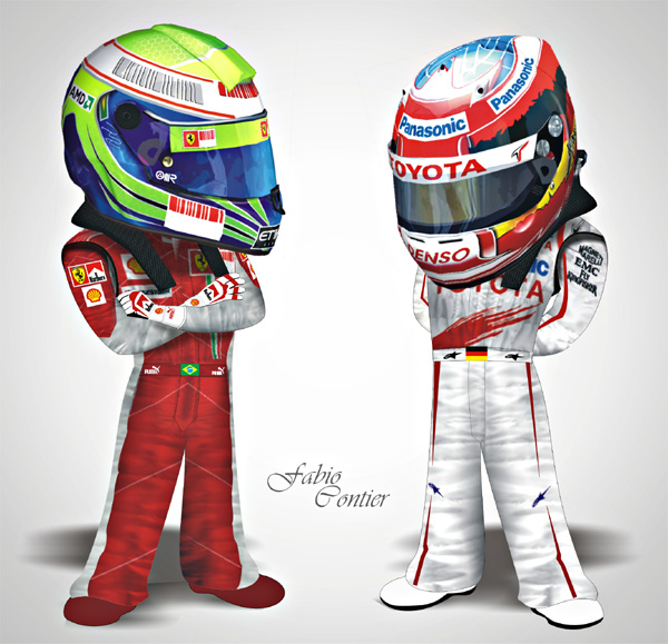 fsone 2008 Фелипе Масса и Тимо Глок Ferrari Toyota