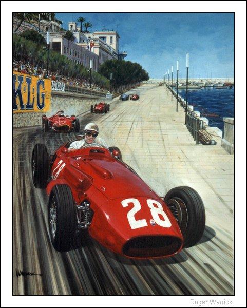 Стирлинг Мосс за рулем Maserati 250F на Гран-при Монако 1956