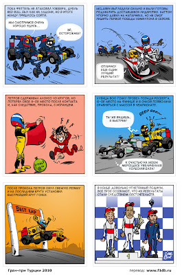 комикс по Гран-при Турции 2010 от команды Renault Cirebox