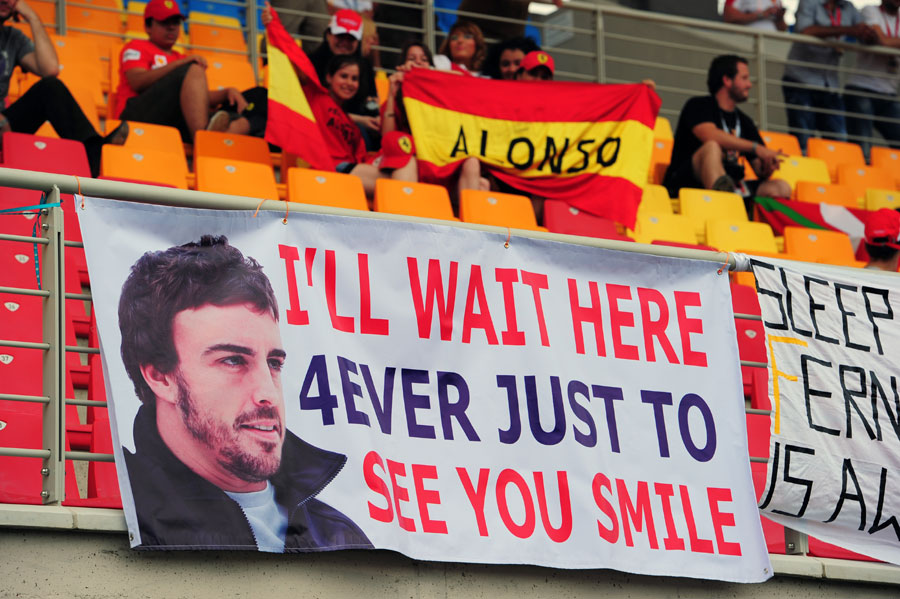 я буду ждать здесь вечно Фернандо Алонсо