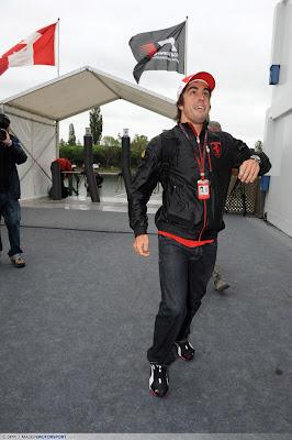 Фернандо Алонсо на Гран-при Канады 2010