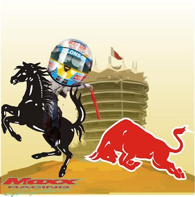 победа Фернандо Алонсо над Red Bull на Гран-при Бахрейна 2010