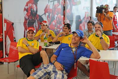 Бразильские футбольные болельщики