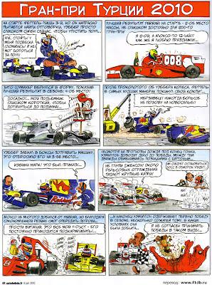 комикс Fiszman по Гран-при Турции 2010