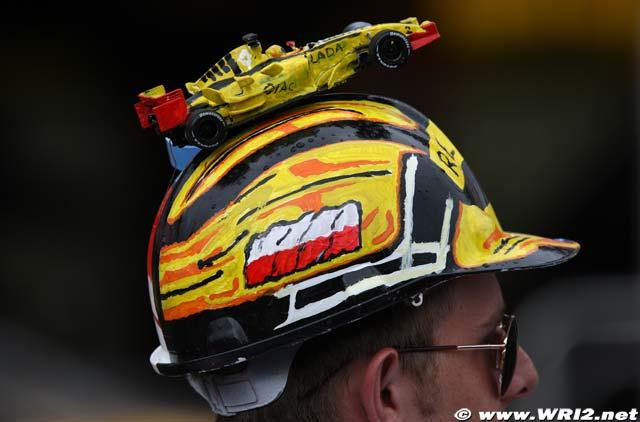 болельщик Renault на Гран-при Германии 2010
