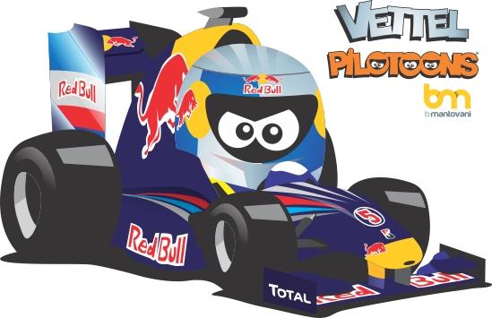 Себастьян Феттель Red Bull pilotoons