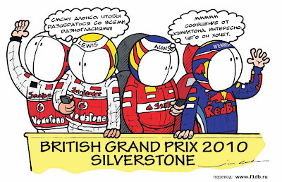 Гран-при Великобритании 2010 Jim Bamber комикс