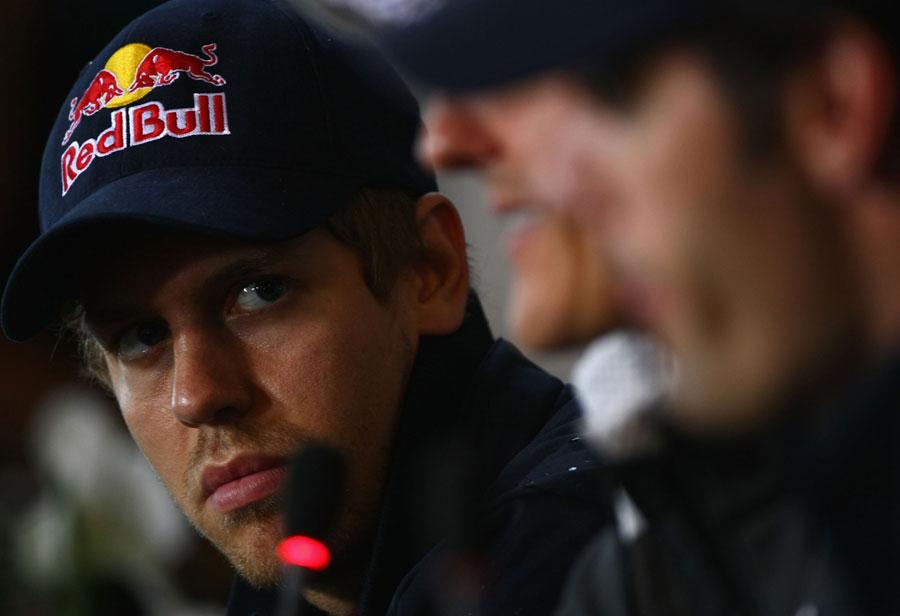 Себастьян Феттель на пресс-конференции на Гран-при Германии 2010