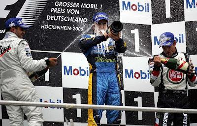 подиум Гран-при Германии 2010