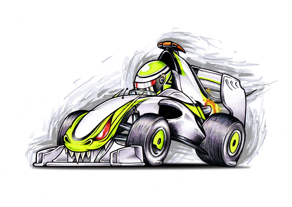 Дженсон Баттон Brawn GP monster car
