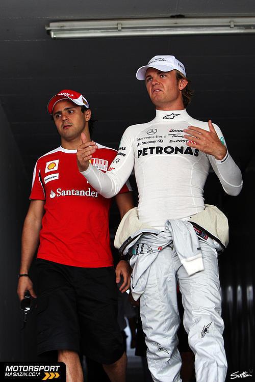Нико Росберг и Фелипе Масса на Гран-при Венгрии 2010
