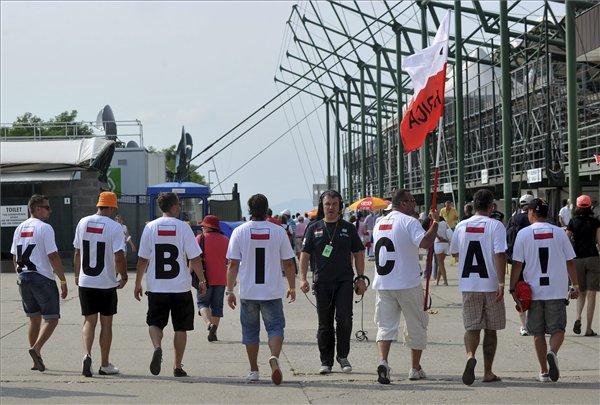 болельщики Роберт Кубицы на Гран-при Венгрии 2010