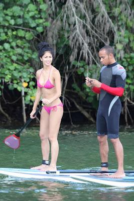 Льюис Хэмилтон и Николь Шерзингер в отпуске на Гаваях