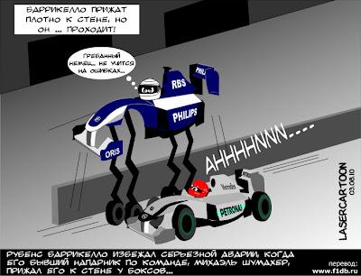 комикс Рубенс Баррикелло и Михаэль Шумахер на Гран-при Венгрии 2010