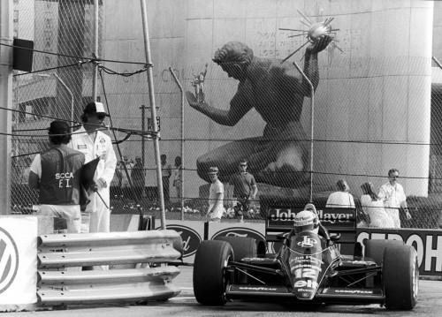 Айртон Сенна на Гран-при Детройта 1986