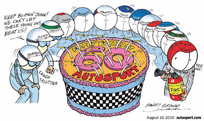 комикс Jim Bamber к 60-летию Autosport